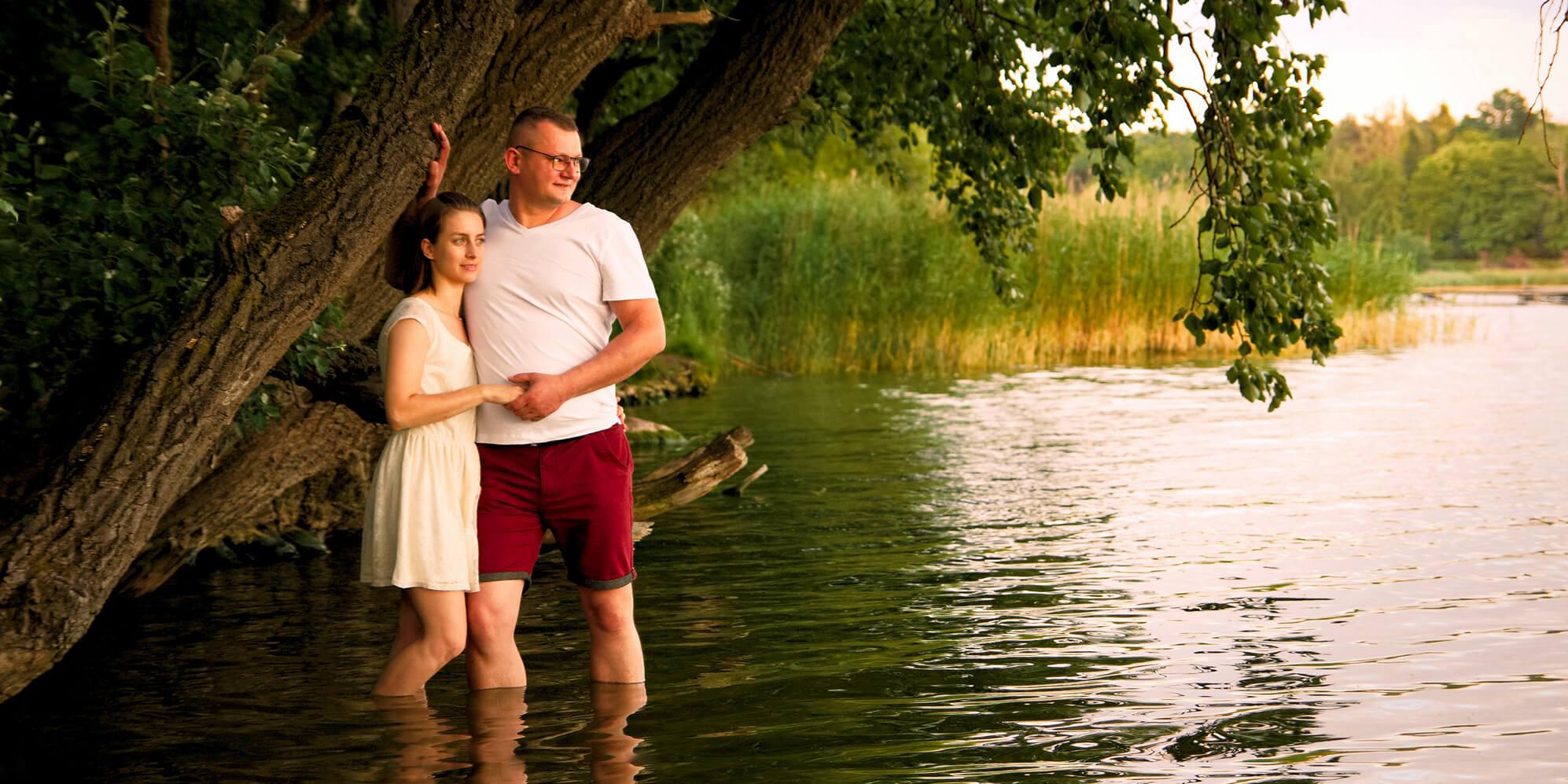 Sesja fotograficzna plenerowa. Jezioro Kiekrz