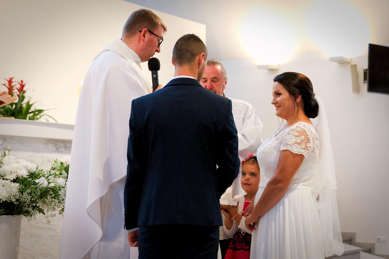Zdjęcia ślubne. Przysięga Młodej Pary