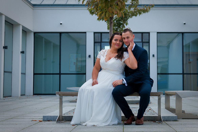 Zdjęcia ślubne. Plener w Pałacu Jankowice