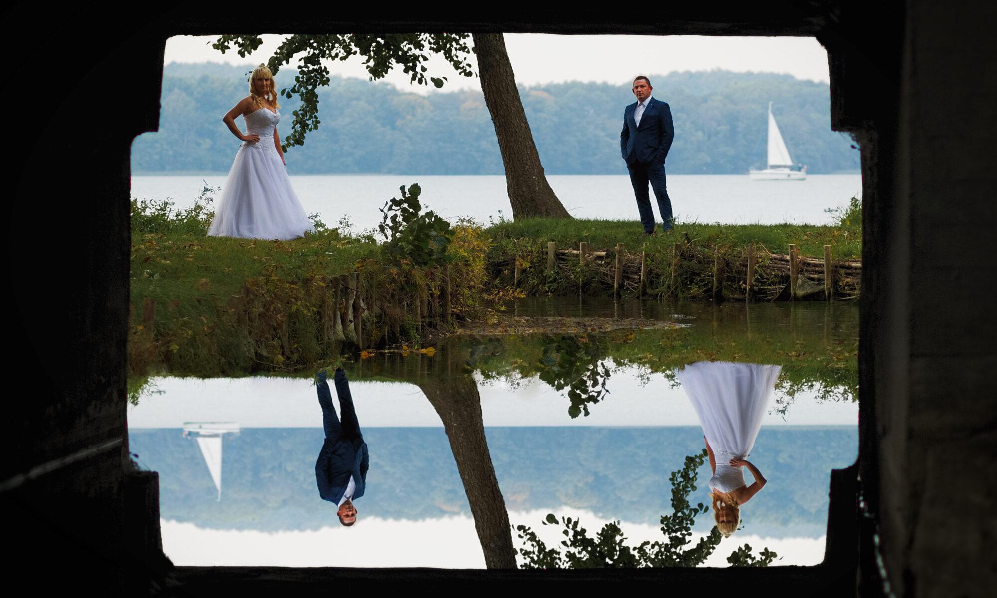 Plener ślubny nad wodą